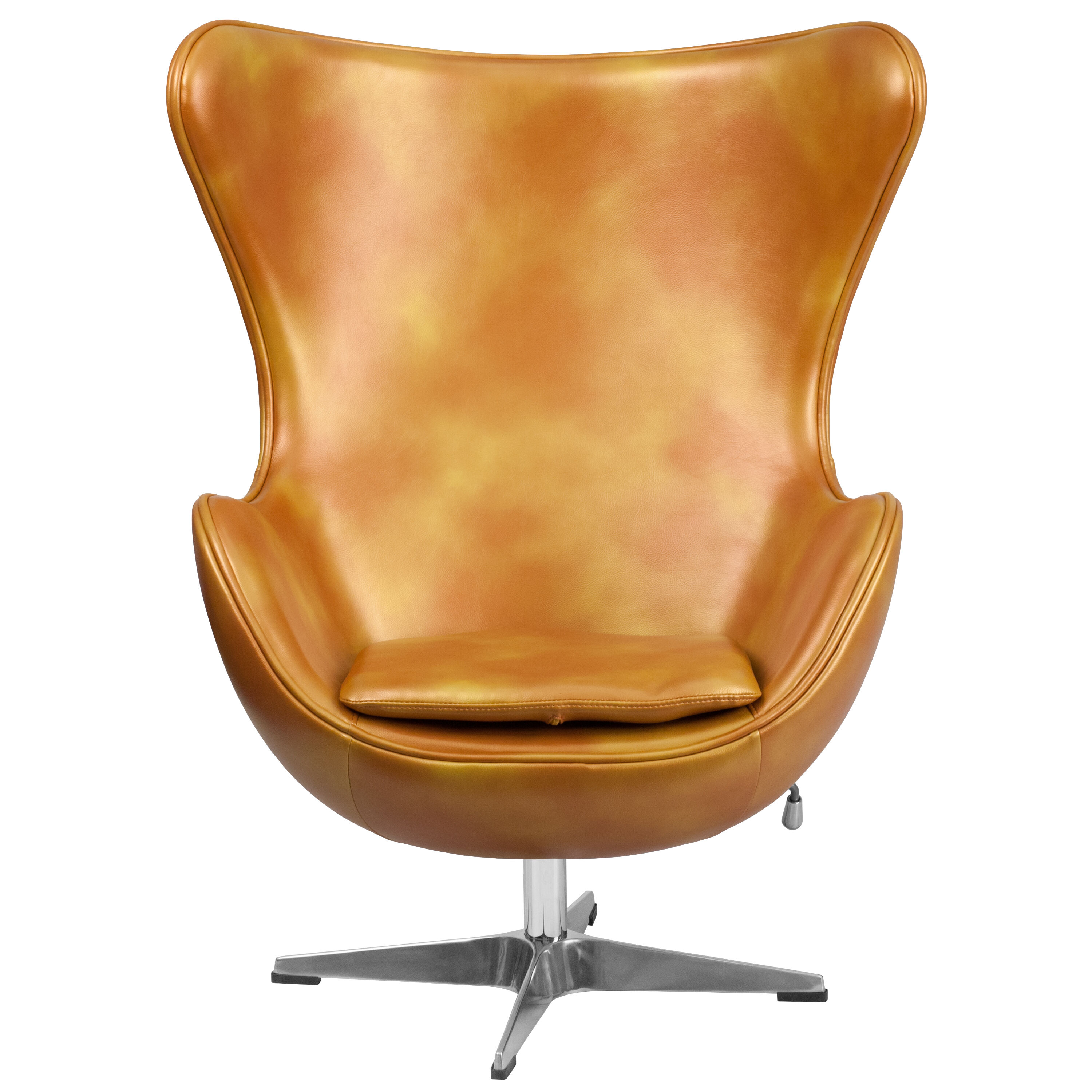 Egg Chairs For Sale Cheap Gold Leather Egg Chair Zb 24 Gg Restaurantfurniture4less