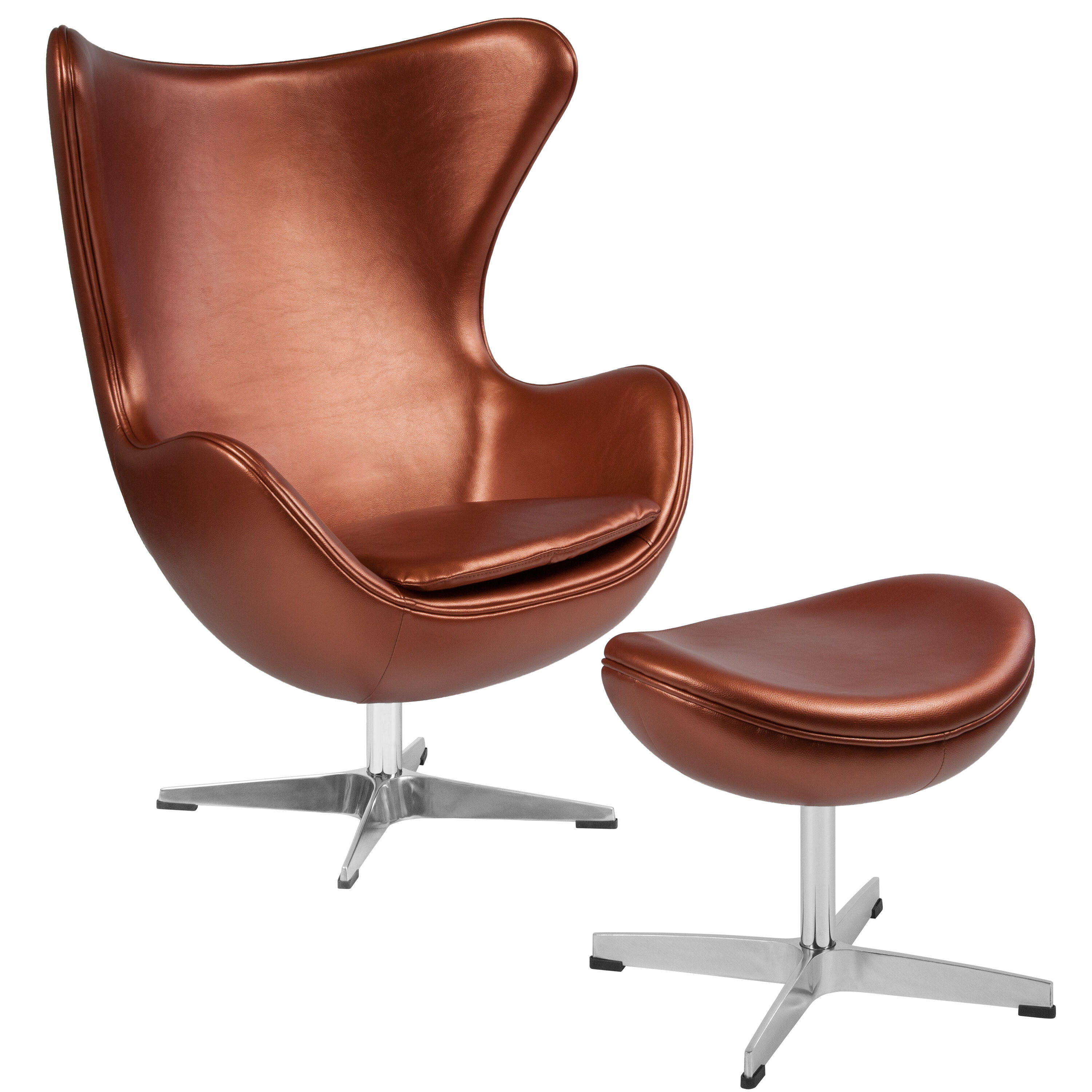 Egg Chairs For Sale Cheap Copper Leather Egg Chair Ott Zb 22 Ch Ot Gg