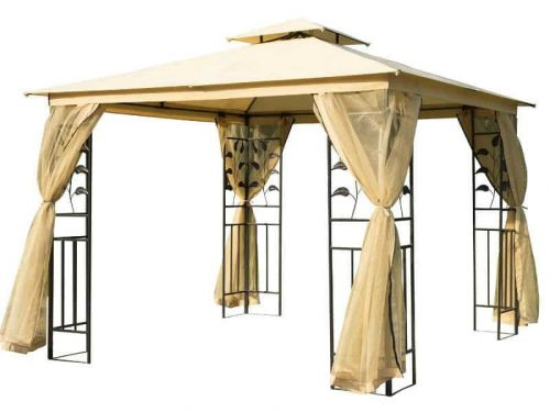 Outsunny metal gazebo with curtains