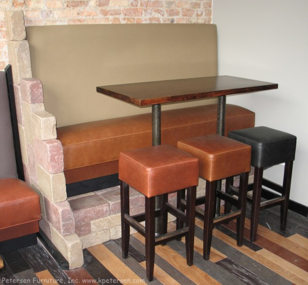 Bar Height Booth Seating Restaurant