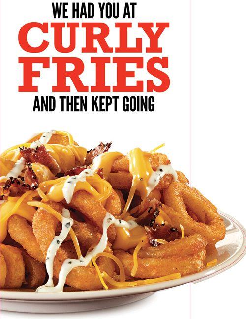 Curly Potato Pizza Hut : curly, potato, pizza, Arby's, Twist, Famous, Curly, Fries, RestaurantNews.com