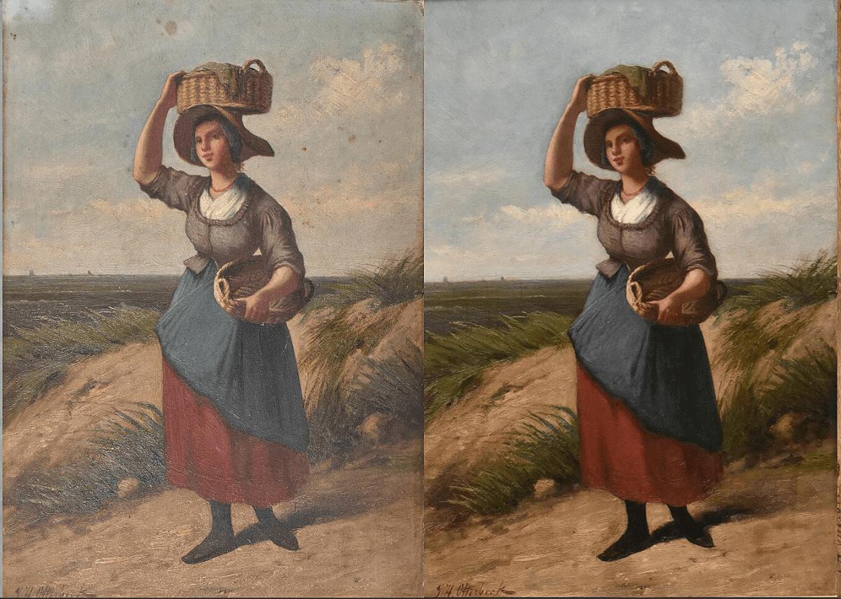 Schoonmaken - voor en na