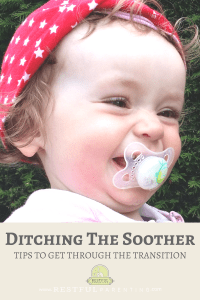 Are you ready to ditch the soother? We've got some great tips to help you through the transition to get rid of the pacifier!