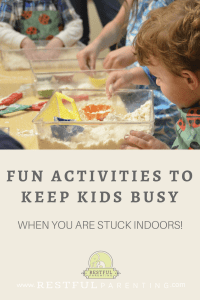 Keep kids busy with these fun activities for indoor play!