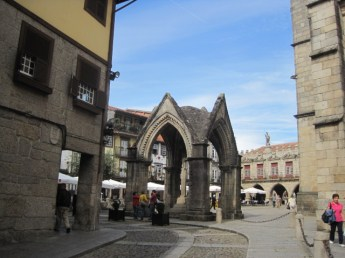 Entrance to the town square in Guimaraes