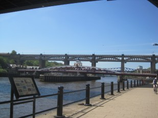 There are a variety of bridges crossing the Tyne.