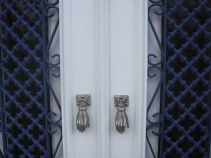 Beautifully framed white doors.