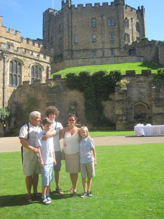 The sun shone on us in Durham.