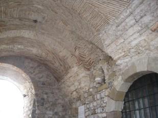 The beautiful brickwork in the town gate, Faro