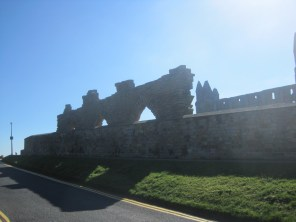 Sidling past Whitby Abbey