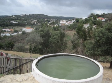Water storage is often in tanks in the countryside