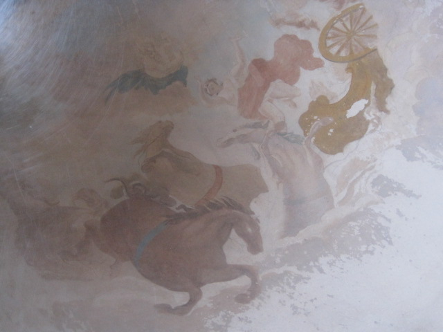 The casting for the dome fresco