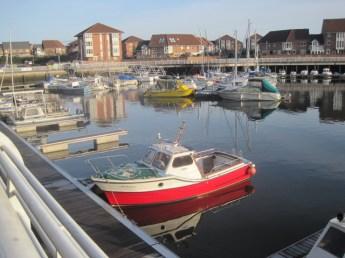 Plenty of boats idling in the marina