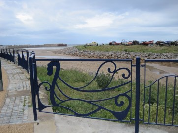Spanking new fencing adorns the seafront