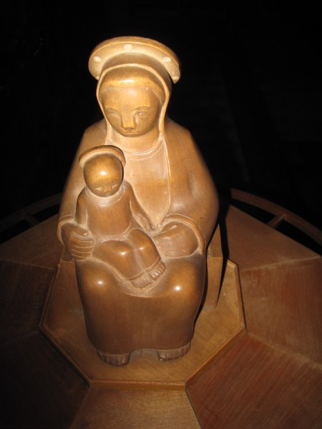 And inside, the Madonna