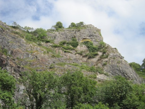 I forgot to mention St Vincent's Cave, visible here on the cliff face and accessed from the Observatory