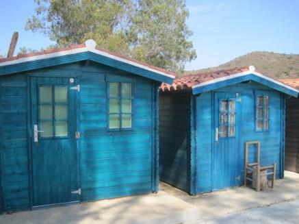 Colourful fishermen's huts