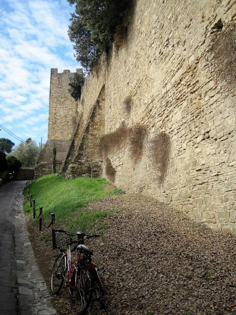Climbing to Forte di Belvedere