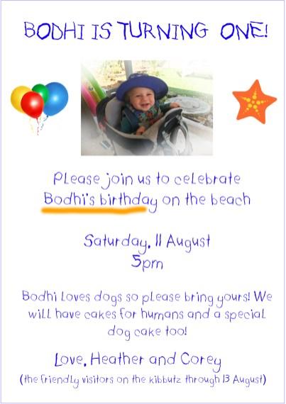 bodhi's birthday invitation