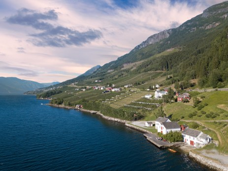 Our farmstay on the fjord, Norway