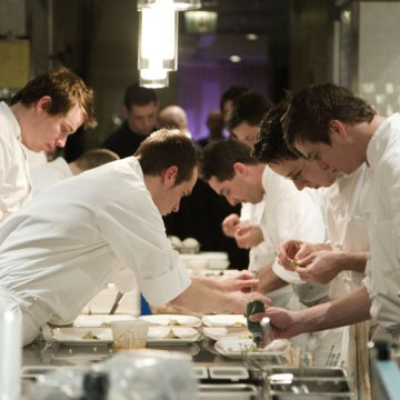 In the kitchen at Alinea/Photo: Lara Kastner