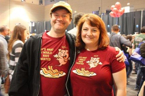 Baconfest. An event that invites amusing t-shirts. Photo David Hammond.