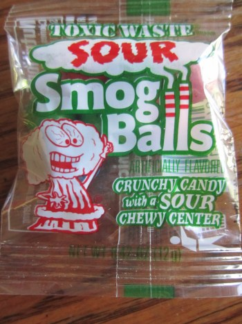 Toxic Waste Sour Smog Balls/Photo: David Hammond