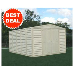Duramax 00514, 10' x 13' Stronglasting Woodbridge Vinyl Storage Shed