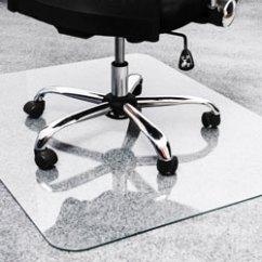 Floortex Chair Mat Cowhide Chairs With Nailhead Trim Glass Mat, 36