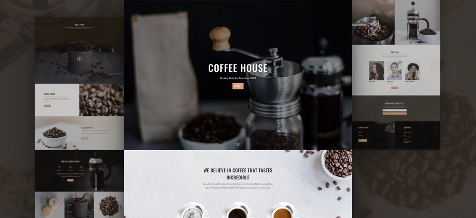 Check Out The Brand New Coffee Shop Web Design