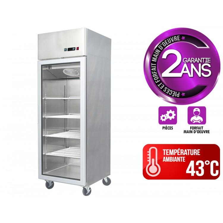 refrigerateur inox 670 l tropicalise 1 porte vitree restonoble fr le monde du c h r a portee de clic