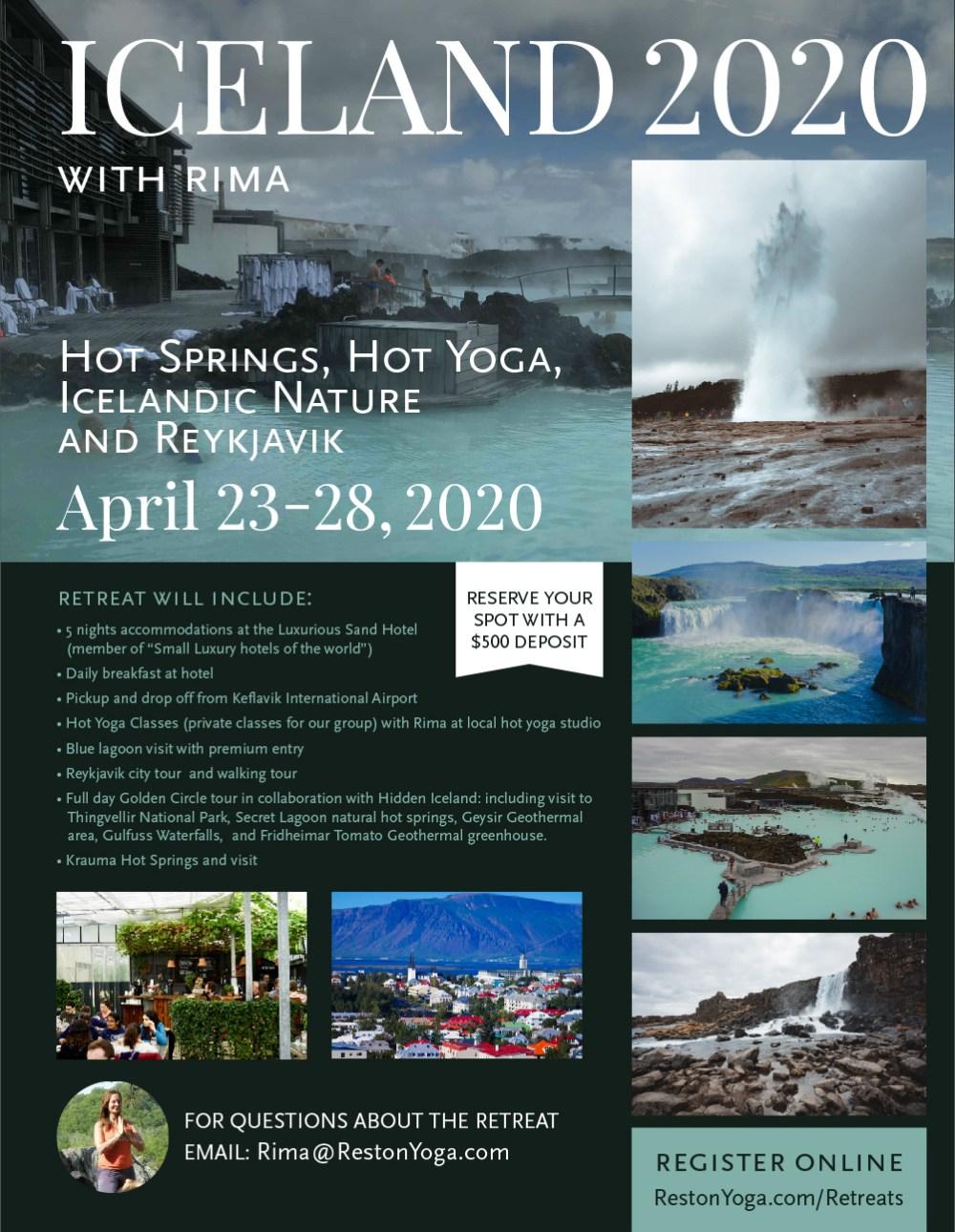 ICELAND April 2020: Hot Springs, Hot Yoga, Icelandic Nature and Reykjavik