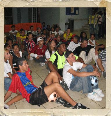 the soccer team night