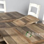 Rustic Butterfly Leaf Table Sets Self Storing Leafs Restored Timbers