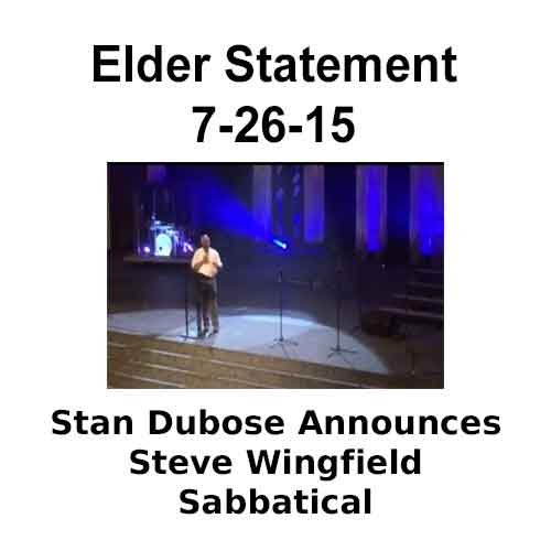 Elder Statement 7-26-15 Stan Dubose