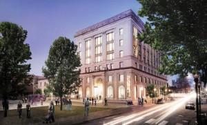 Rendering of rehabilitated 511 Building