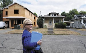 Corvallis residents recently surveyed 2,500 buildings in neighborhoods most impacted by the recent trend in demolitions (Image courtesy Amanda Cowan/ Corvallis Gazette-Times)