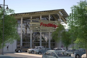 A proposal to level the stadium and build a Fred Meyer is currently favored by the school district's review committee (Photo courtesy Group Mackenzie)