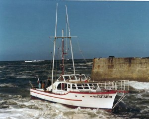 Kingfisher entering Depoe Bay Harbor in 1997 (Image courtesy of Lincoln County Historical Society)