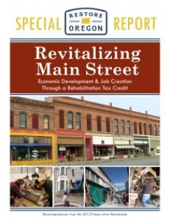 Revitalizing Main Street Economic Development & Job Creation Through a Rehabilitation Tax Credit