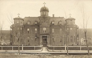 Original 1902 St. Anthony's Hosptial (Photo courtesy Keith May postcard collection)