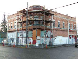 Rinehart Building, Portland, during restoration (Photos Courtesy Oregon Heritage).