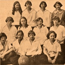 Girls basketball team in 1924