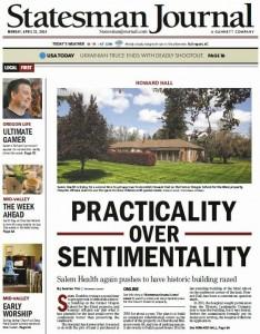 Cover of April 21 Salem Statesman Journal