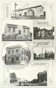 A Selection of Hermiston Buildings in 1922 (note library at upper left)