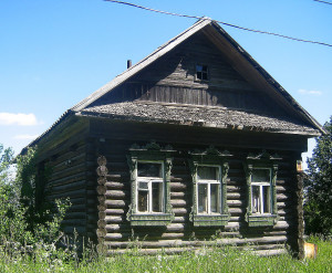 A Russian log house in Izba