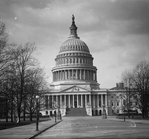 The U.S. Capitol in 1909. Library of Congress image.