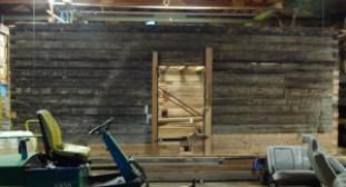 Assembled log house