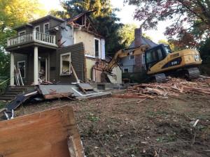 The Eastmoreland house was demolished October 4 (Image courtesy Eastmoreland Neighborhood Association)