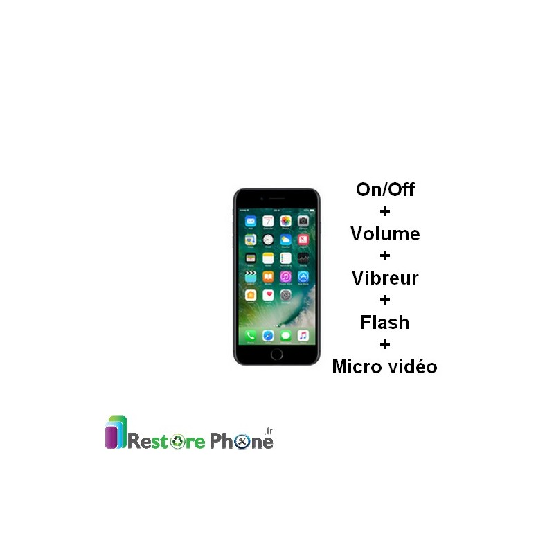 Réparation Bouton On/Off + volume + vibreur + Flash
